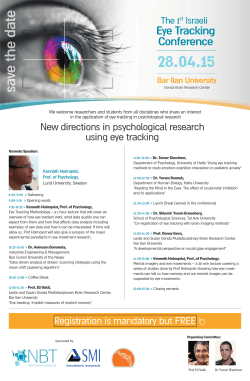 Eye Tracking Conference Bar Ilan University