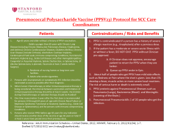 Pneumococcal Polysaccharide Vaccine (PPSV23) Protocol for SCC