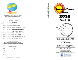 Summer Dance Camp - Meg Segreto`s Dance Centre
