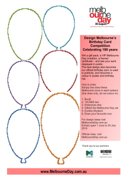 Download: Melbourne Birthday Card Design