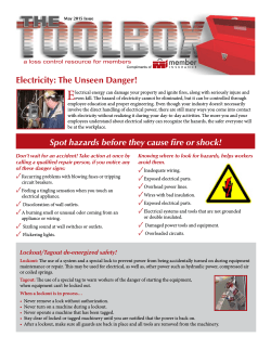 May 2015 – Electrical Safety
