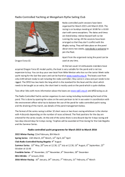 Radio Controlled Yachting at Mengeham Rythe Sailing Club