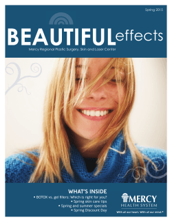 Beautiful Effects Newsletter - Mercy Regional Plastic Surgery Center