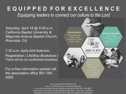 Equipped for Excellence - Inland Empire Southern Baptist Association