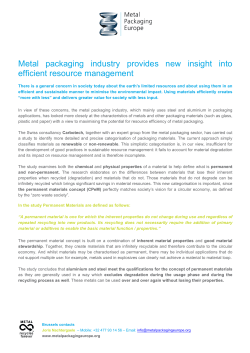 - Metal Packaging Europe