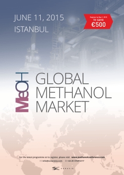 JUNE 11, 2015 ISTANBUL - Global Methanol Market