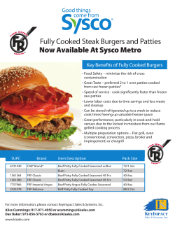 Now Available At Sysco Metro Fully Cooked Steak