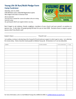 Kid Pledge Form - Midland Young Life (Michigan)
