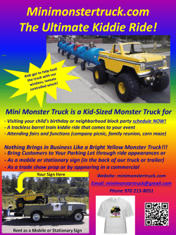 Minimonstertruck.com The Ultimate Kiddie Ride!