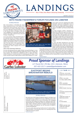 Proud Sponsor of Landings - Maine Lobstermen`s Community Alliance