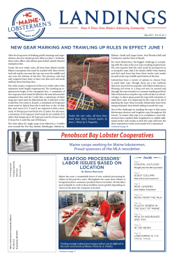 May 2015 - Maine Lobstermen`s Community Alliance