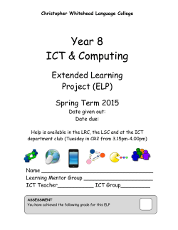 Year 8 ICT & Computing - Christopher Whitehead Language College