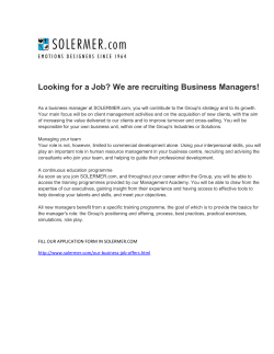 Looking for a Job? We are recruiting Business Managers!
