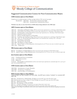 Suggested Communication Courses for Non 159