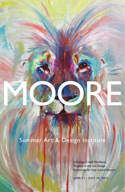 Summer Art & Design Institute - Moore College of Art & Design
