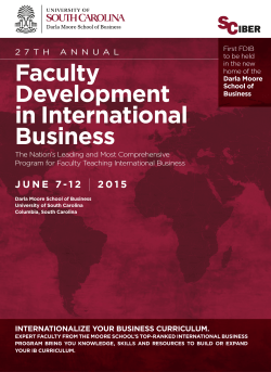 Faculty Development in International Business