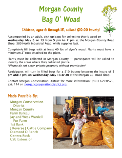Bag o Woad Flyer - Morgan Conservation District