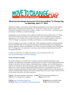 Movement Exchange Announces First Annual Move To Change Day