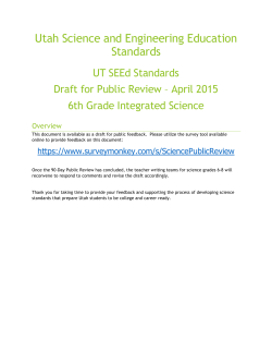 6th Grade - Utah State Office of Education