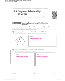 15.4 Segment Relationships in Circles