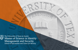 Brochure - Master of Science in Identity Management and