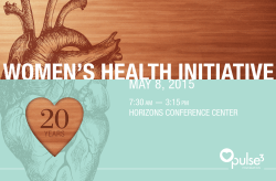 Womens Health Initiative 2015