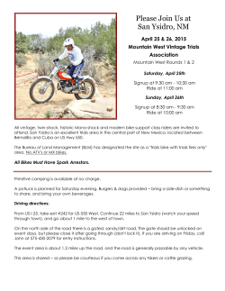 San Ysidro, NM event flyer - Mt West Vintage Trials Assoc