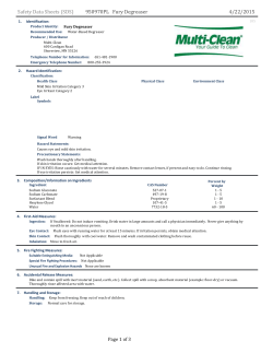 950970PL Fury Degreaser Safety Data Sheets (SDS) 4 - Multi