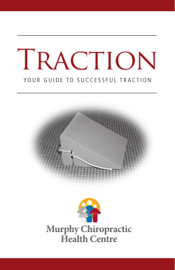 Traction Wedge Booklet - Murphy Chiropractic Health Centre