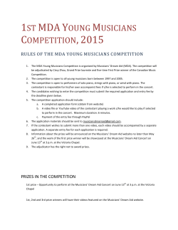1st mda young musicians competition,2015