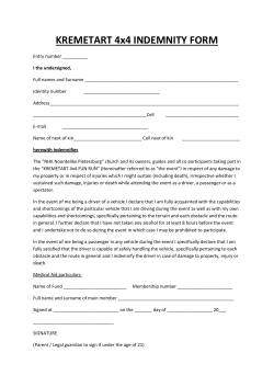 KREMETART 4x4 INDEMNITY FORM