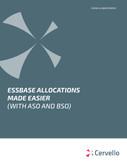 ESSBASE ALLOCATIONS MADE EASIER (WITH ASO