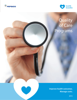 Quality of Care Programs Flier