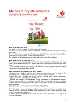 Heart health resources - My heart, my life e