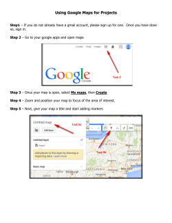 Using Google Maps for Projects