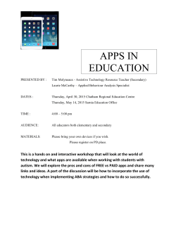 Apps in Ed Poster