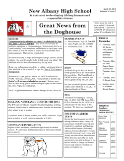 Read Newsletter - New Albany High School