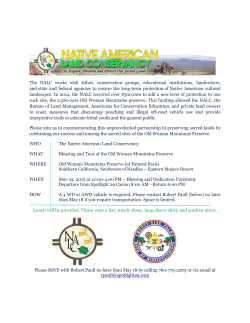 The NALC works with tribes, conservation groups, educational