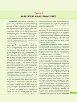 3. Agriculture and Allied Activities of Karnataka
