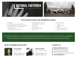 Facilities List - National Fabtronix, Inc.