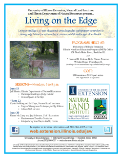 Living on the Edge - Natural Land Institute