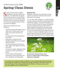 Spring Clean Detox - College of Naturopathic Medicine