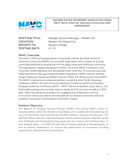 NAVC Hiring for Strategic Account Manager (Western