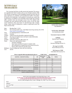 2015 NCFDA Golf Tournament
