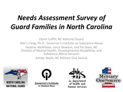 Needs Assessment Survey of Guard Families in North Carolina