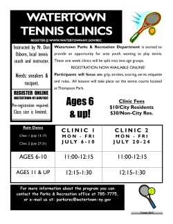 Tennis Lessons - Watertown, NY
