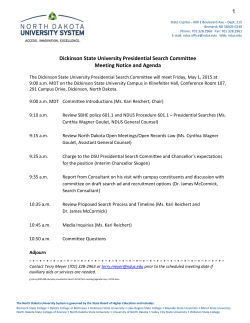 Dickinson State University Presidential Search Agenda and