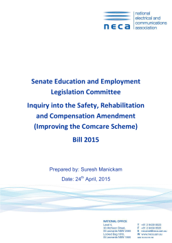 Inquiry into the Safety, Rehabilitation and Compensation