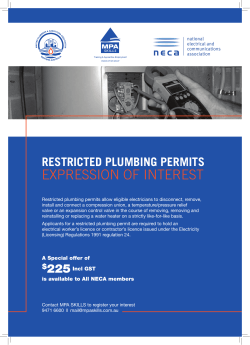 MPGA Restricted Plumbing Permits NECA Flyer.indd