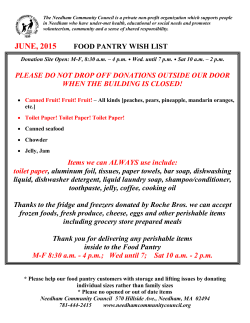 june, 2015 food pantry wish list